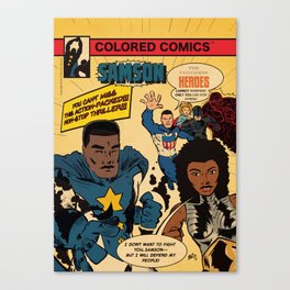 Colored Comics Presents Samson Canvas Print