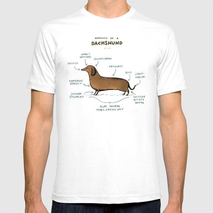Anatomy of a Dachshund T-shirt by sophiecorrigan | Society6