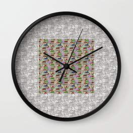 Small houses Wall Clock