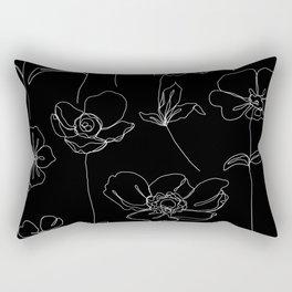 Botanical illustration drawing - Botanicals Black Rectangular Pillow