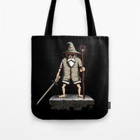 gandalf Tote Bags featuring Gandalf genial by le.duc
