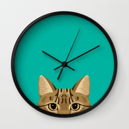 Tabby Cat Wall Clock