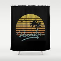 paradise Shower Curtains featuring Paradise by Anthony Troester