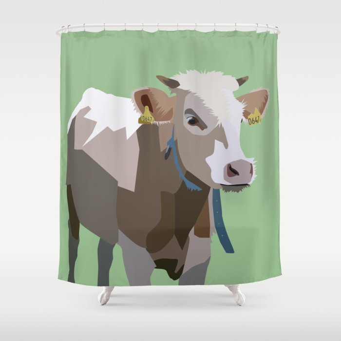 COW Shower Curtain By Panaceacreative