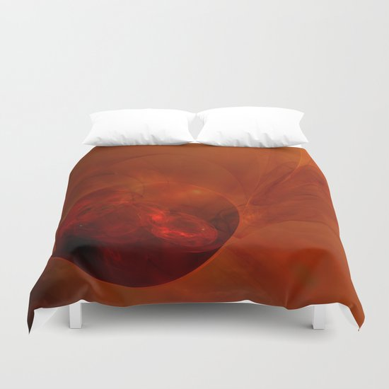 Visitor Arrives At Dawn Duvet Cover