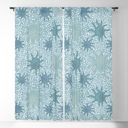 Starfish and Pebbles Blackout Curtain