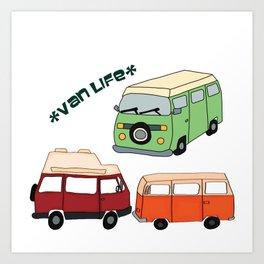 Van Life Camping Traveling Art Art Print
