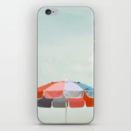 beach umbrella iPhone Skin