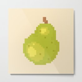 Pear Pixel Art | Animal Villager Metal Print