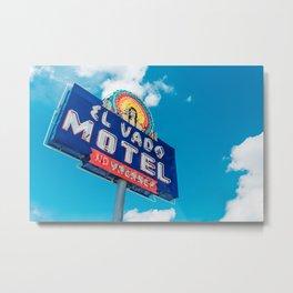 El Vado Motel Metal Print