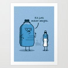 Water Weight Art Print