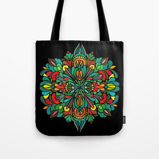Green red orange pattern Tote Bag