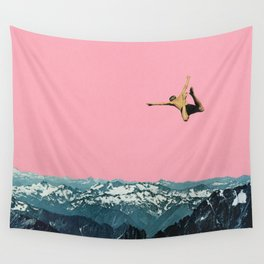 Higher Than Mountains Wall Tapestry