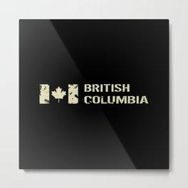 Canadian Flag: British Columbia Metal Print
