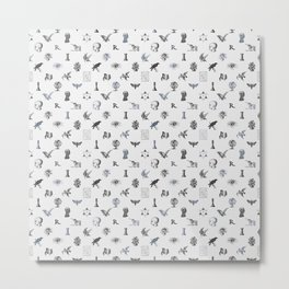 House of the Wise - Pattern I Metal Print