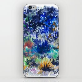 Watercolor wetland landscape iPhone Skin
