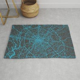 Charlotte map blue Rug