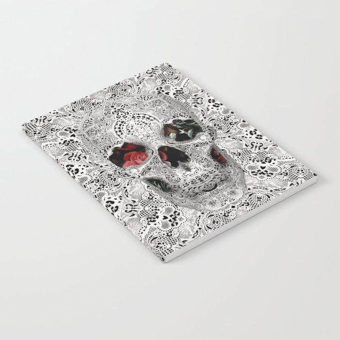 Lace Skull Light Notebook