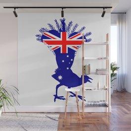 Australian Flag - Lyrebird Wall Mural