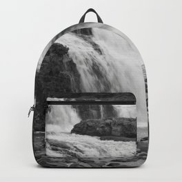 Falls in Black and White Backpack