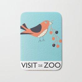 visit the zoo bird Bath Mat