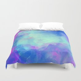 Watercolor abstract art Duvet Cover