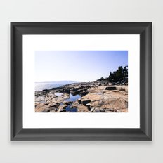 Alone in Acadia Framed Art Print