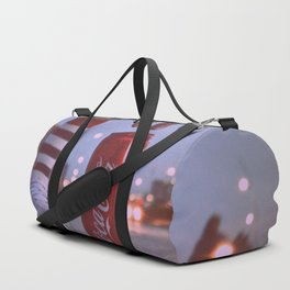 Old photo with a popular brand Duffle Bag