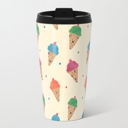 Fun Ice Cream Pattern Travel Mug