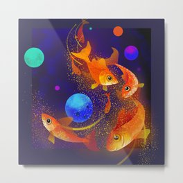 Sturdusrt.  Goldfish adventures in space Metal Print