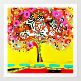 calipso fusion tree Art Print