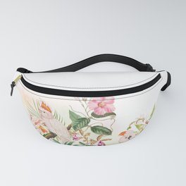 Tropical Parrot Dream Yellow Fanny Pack