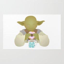 Do or DONUT - Little Yoda - no background Rug