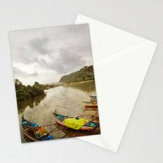 Fishing port in Goa, India Stationery Cards