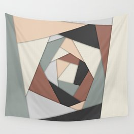 Earth Tones Layers Wall Tapestry