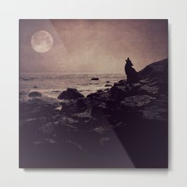 Call of the Wild - full moon fine art photo, wolf howling, landscape photography Metal Print