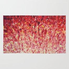 HYPNOTIC SUNRISE - Stunning Sunrise Sunset Pink Magenta Peach Crimson Bright Red Cream Rug