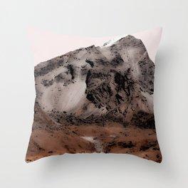 Inhospitable Landscape Throw Pillow