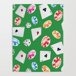 #casino #games #accessories #pattern 4 Poster