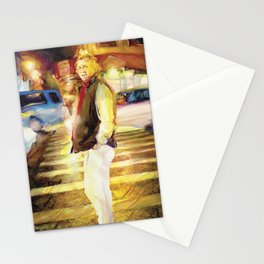 Patrick crosses Mott Street, New York City Stationery Cards