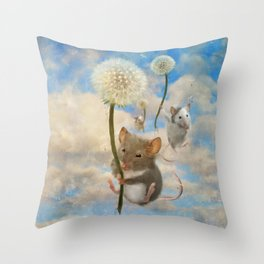 Dandemouselings Throw Pillow