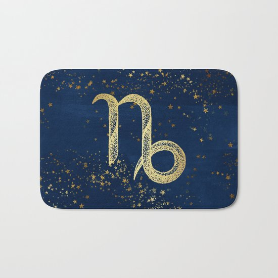 Capricorn Zodiac Sign Bath Mat