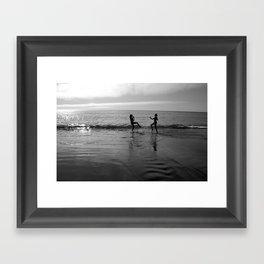 Beach Kung Fu Framed Art Print
