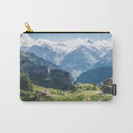 Swiss Alps Summer Landscape Carry-All Pouch