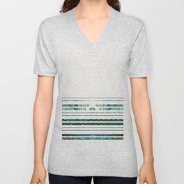 Striped Unisex V-Neck