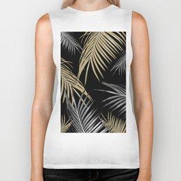 Gold Gray Palm Leaves Dream #1 #tropical #decor #art #society6 Biker Tank