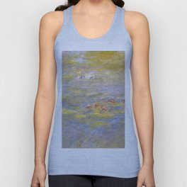 Monet, Water-Lilies (yellow) after 1920-1926 Unisex Tank Top