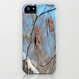 Snowy Branch iPhone Case