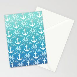 Nautical Knots Ombre Stationery Cards