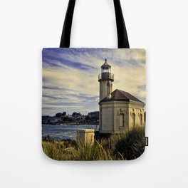Oregon Coquille River Lighthouse - Watching The River Tote Bag
